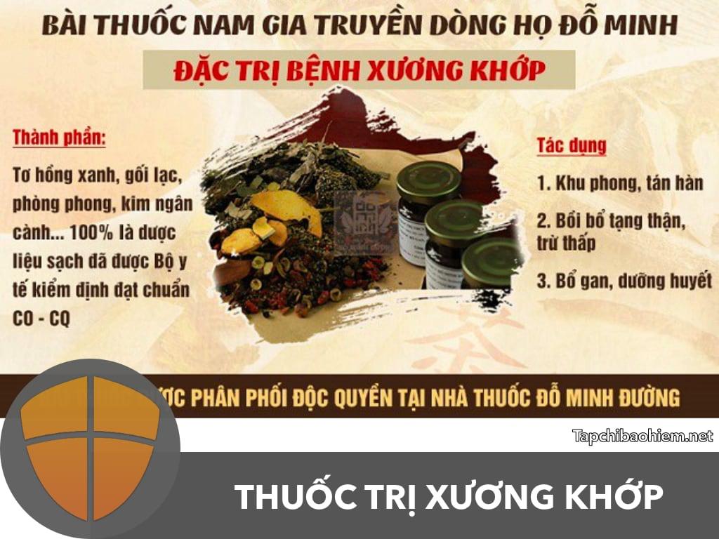 THUỐC XƯƠNG KHỚP GIA TRUYỀN DÒNG HỌ ĐỖ MINH